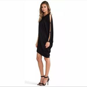 BCBG NWT one shoulder black dress size medium